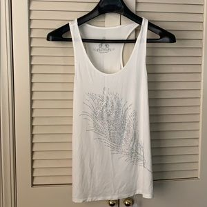 NWT boutique tank with feather sequin detail